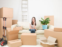 Happy with my new home Royalty Free Stock Image
