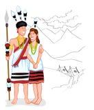 Happy Naga couple Stock Photography
