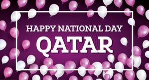 Happy National Day Qatar. stock illustration