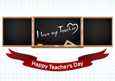 Happy National Teachers Day. Greeting card Royalty Free Stock Image