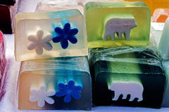 Happy natural soaps for children 5 Royalty Free Stock Photography