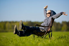 Happy in nature Royalty Free Stock Image
