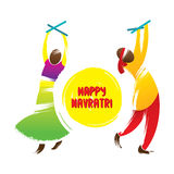 Happy navrati festival celebration greeting. Design vector Royalty Free Stock Images