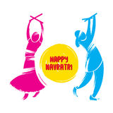 Happy navrati festival celebration greeting Stock Photography