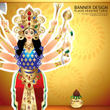 Happy navratri background Royalty Free Stock Image