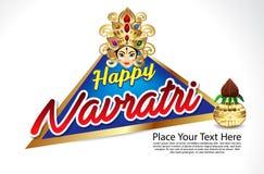 Happy navratri celebration background Royalty Free Stock Image