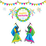Happy navratri festival celebrate Stock Images