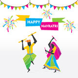 Happy navratri festival celebrate Royalty Free Stock Images