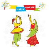 Happy navratri festival celebrate Stock Photos