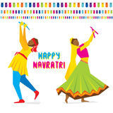 Happy navratri festival  design Stock Photography