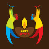Happy navratri festival  design Royalty Free Stock Photos