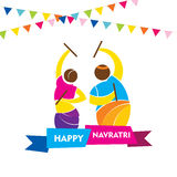Happy navratri festival design Royalty Free Stock Image
