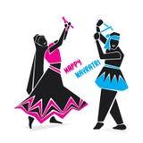 Happy navratri festive poster Royalty Free Stock Photography