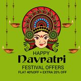 Happy Navratri. Royalty Free Stock Images