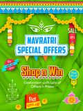 Happy Navratri Offer promotions Royalty Free Stock Photography