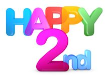 Happy 2nd Title. In big letters Royalty Free Stock Image