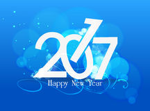 Happy nea year 2017 blue light.  Stock Photos
