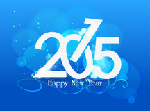 Happy nea year 2015 blue light. Happy new year background and greeting card design Stock Images