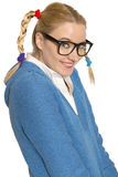 Happy Nerdy girl Stock Photography