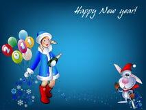 _Happy neues Jahr des Winterhintergrundes Stockfoto