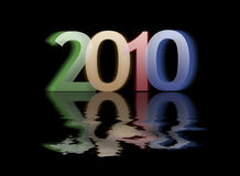 Happy new 2010 year. Numbers Royalty Free Stock Photo