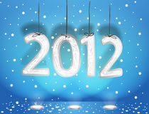 Happy new 2012. Blue christmas illustration. Happy new 2012 Royalty Free Stock Photography