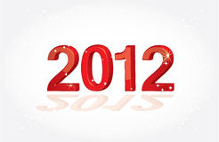 Happy new 2012 year. Illustrated card Royalty Free Stock Image