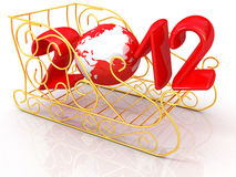 Happy New 2012 Year. On white background Stock Photos