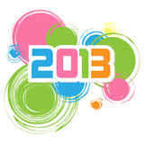 Happy new 2013 year. Have a new year, happy 2013, text on a coloured fantasy background Royalty Free Stock Photos