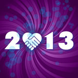 Happy new 2013 year. Have a new year, happy 2013, text on a coloured fantasy background Stock Image