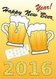 Happy New Beer Stock Photos