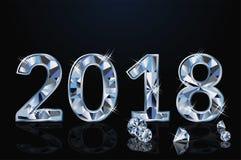 Happy new diamond 2018 year, vector. Illustration stock illustration