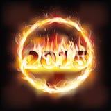 Happy new 2015 fire year Stock Photo