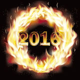 Happy new 2016 fire year wallpaper, vector. Illustration Stock Image