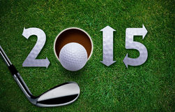 Happy New Golf Year Royalty Free Stock Photography