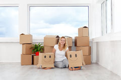 Happy in a new home Royalty Free Stock Photo