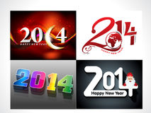 Happy New New Background Set. Vector illustration Stock Photos