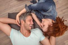 Happy new real estate couple Stock Photo