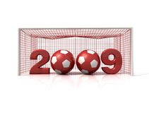Happy new soccer Stock Image
