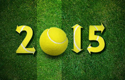 Happy New sport year. 2014 with Football, the same concept available for 2015, 2016 and 2017 year stock images
