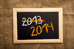 Happy new 2014th year Stock Photography