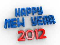 Happy new USA. 3d illustration of words to wish the new year version USA Stock Photo