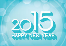 Happy new yea 2015r text abstract background Royalty Free Stock Photography