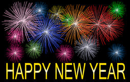 Happy new year. Illustration of a Happy new year background Royalty Free Stock Photos