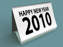 Happy new year. New year 2010. 3d render. High resolution Royalty Free Stock Photo