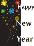 Happy New year. Colorful Happy New Year with fireworks Vector Illustration