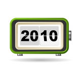 Happy New Year. 2010 in a retro clock Stock Images