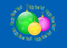 Happy new year. Congratulation post card background   image Stock Photo