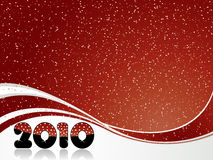 Happy new year. Red abstract Happy new year 2010 background Royalty Free Stock Photo