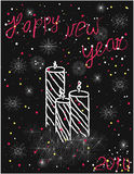 Happy new year. New Year's greeting card Happy New Year royalty free illustration